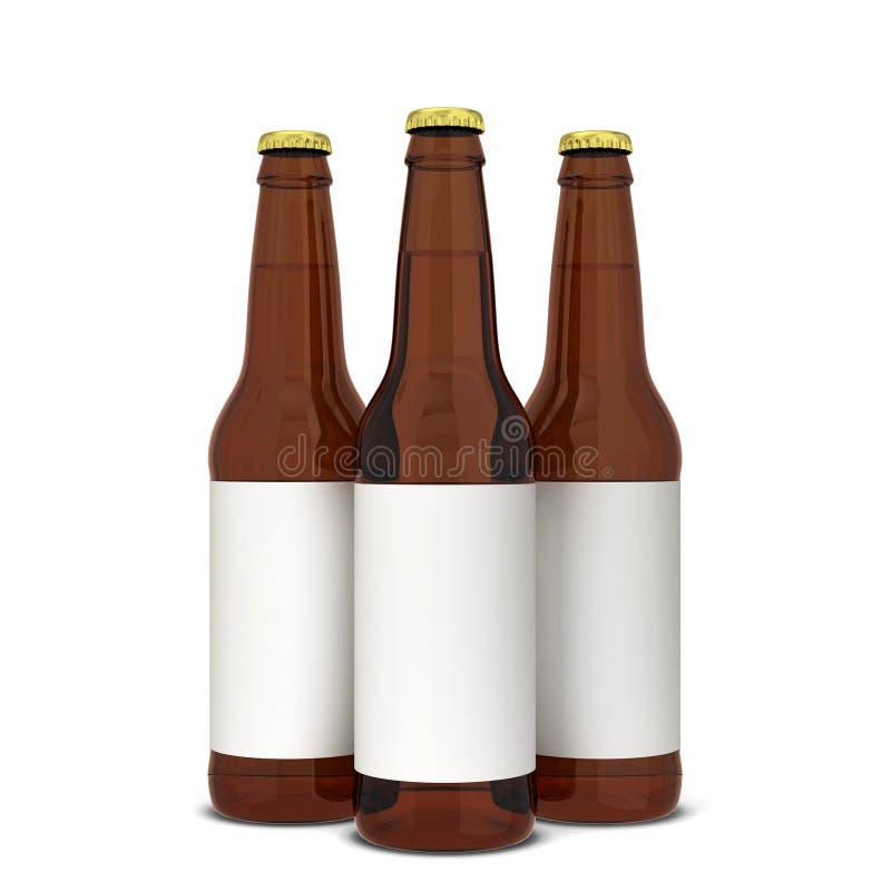 Bouteille à bière illustration libre de droits