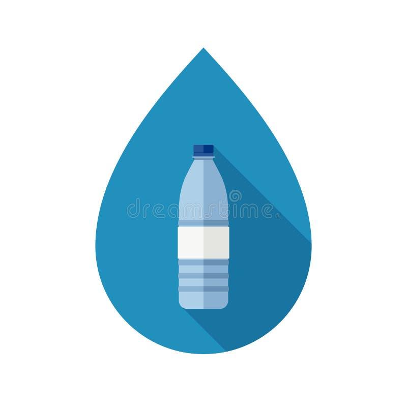 Bouteille avec de l'eau illustration de vecteur