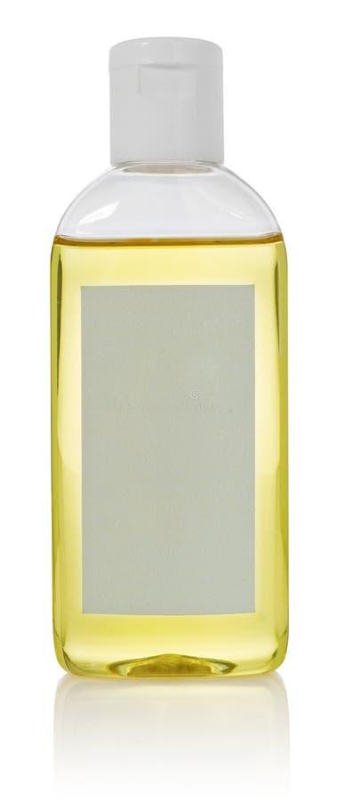 Bouteille avec l'huile essentielle de soin de corps Récipient avec un distributeur photos stock