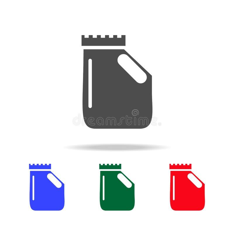 bouteille avec l'icône liquide stérile Éléments du lavage dans les icônes colorées multi Icône de la meilleure qualité de concept illustration de vecteur