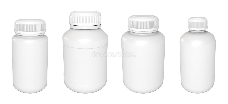 Bouteille blanc de médecine illustration libre de droits