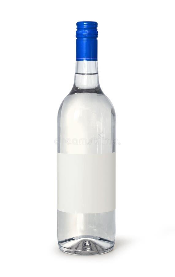 Bouteille blanc de spiritueux photo libre de droits