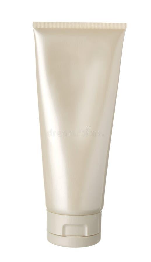 Bouteille blanche de plastique de perle image stock