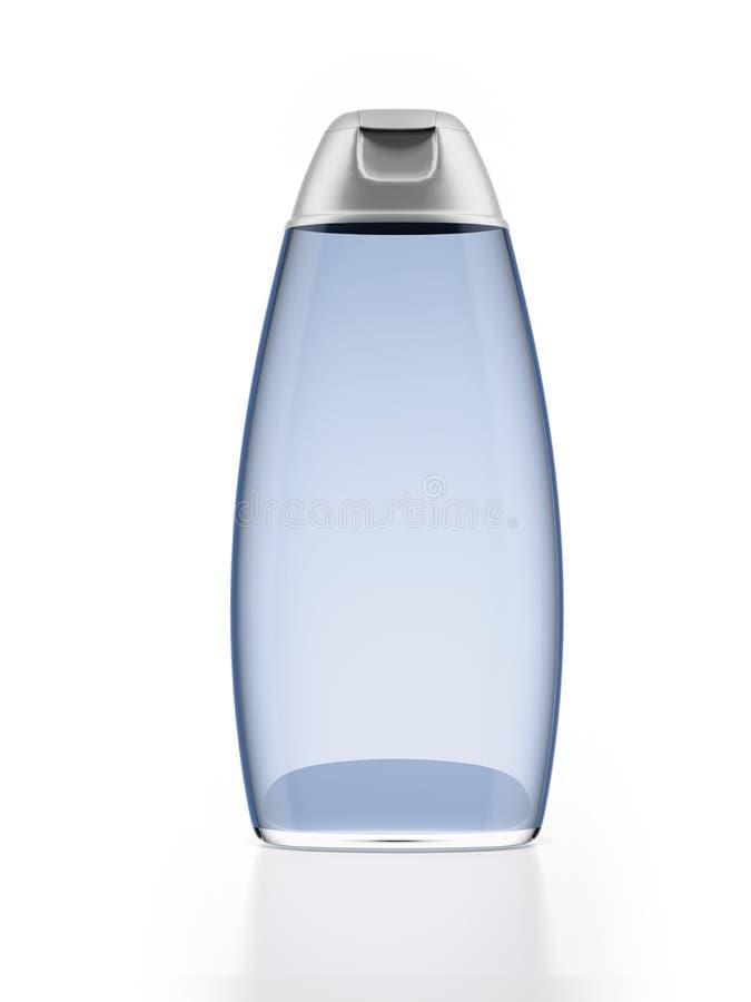 Bouteille bleue de shampooing illustration de vecteur
