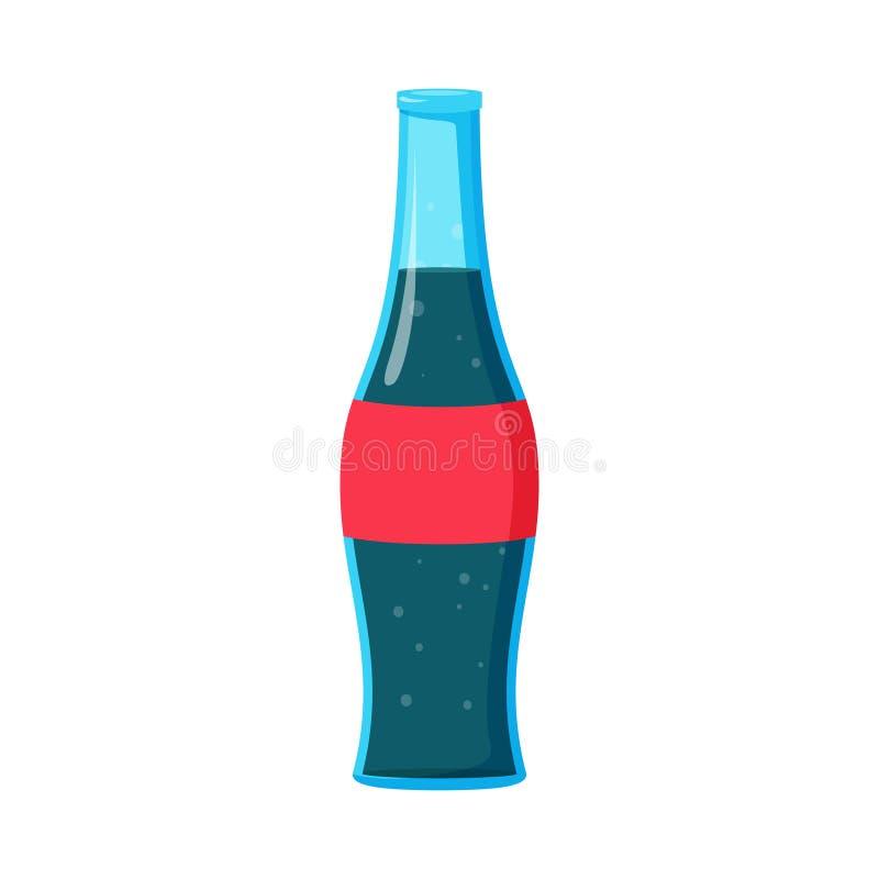 Bouteille carbonatée par soude de boissons de kola de boisson illustration de vecteur