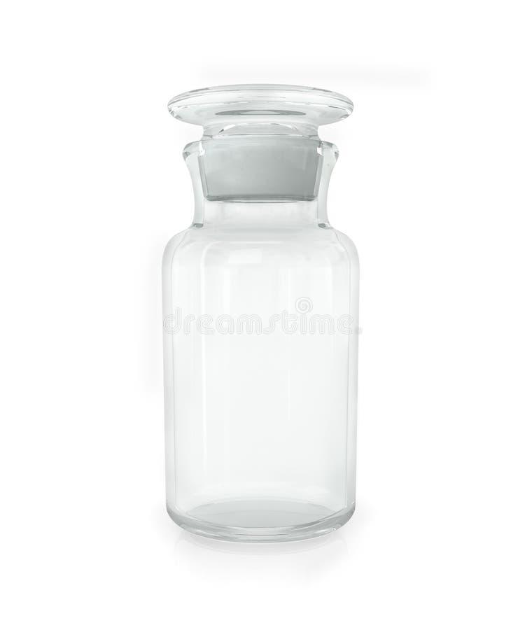 Bouteille chimique avec le verre transparent photos libres de droits