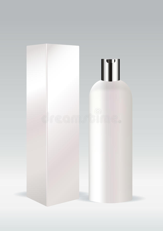 Bouteille cosmétique blanche illustration stock