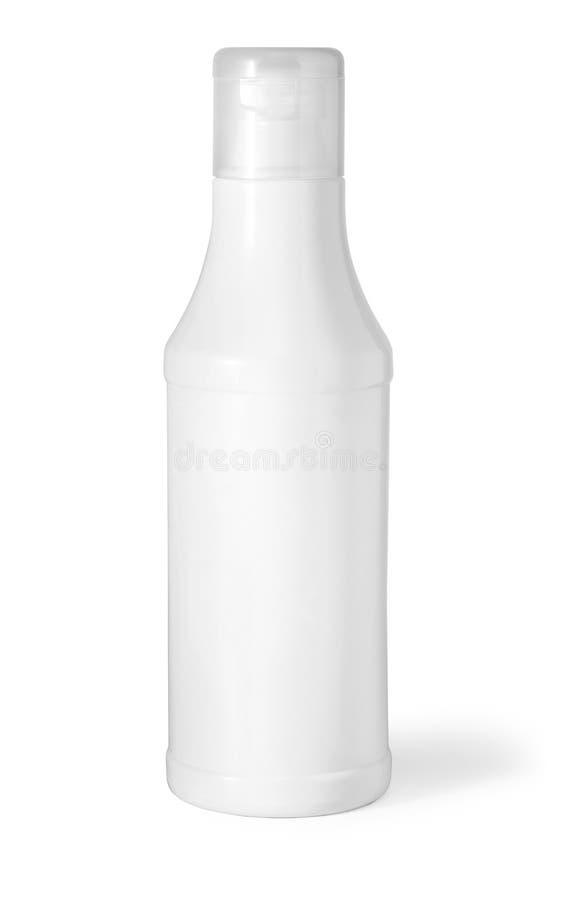 Bouteille cosmétique en plastique photo stock