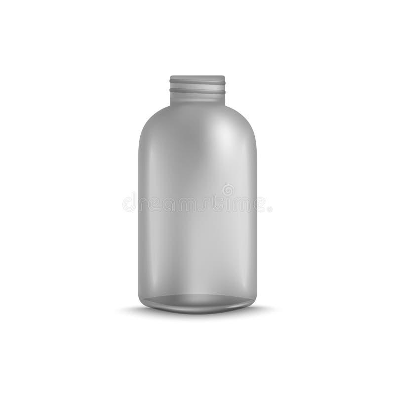 Bouteille cosmétique pour l'illustration liquide de maquette de vecteur des produits 3d illustration de vecteur