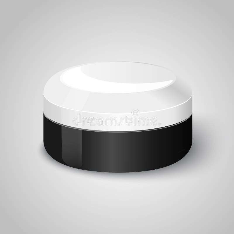 Bouteille cosmétique pour la crème illustration de vecteur