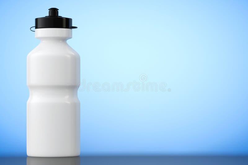 Bouteille d'eau blanche de plastique de sport rendu 3d illustration stock