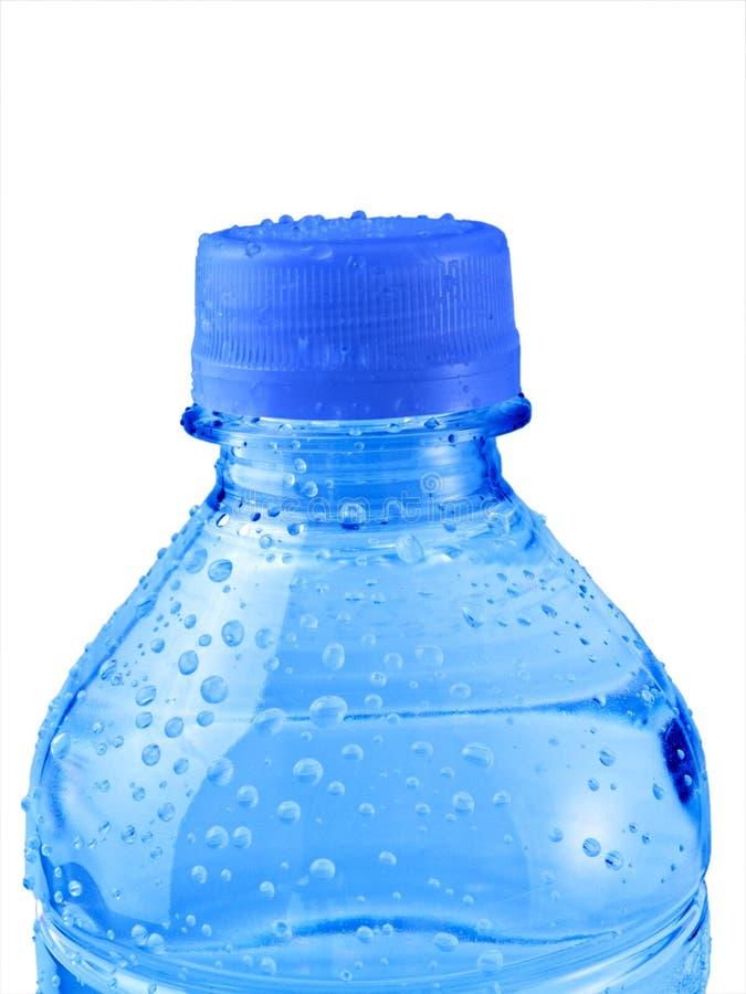 Bouteille d'eau bleue d'isolement photos libres de droits