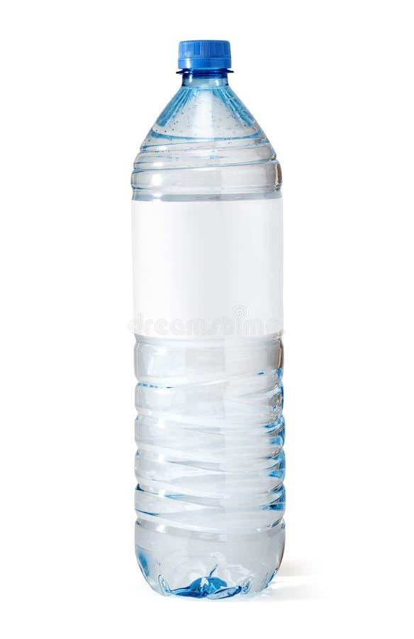Bouteille d'eau de bicarbonate de soude avec l'étiquette blanc photos stock