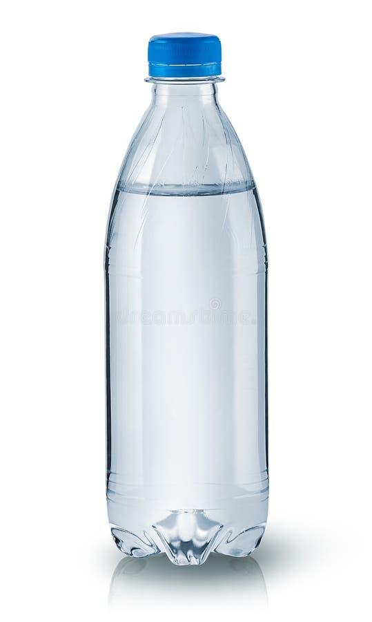 Bouteille d'eau en plastique fermée image libre de droits