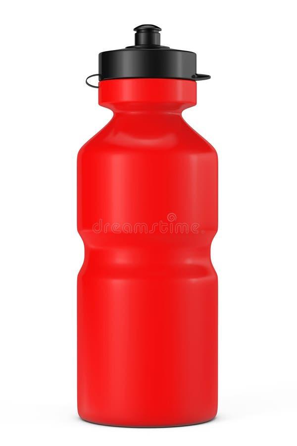 bouteille d 39 eau rouge de plastique de sport illustration stock illustration du exercice. Black Bedroom Furniture Sets. Home Design Ideas