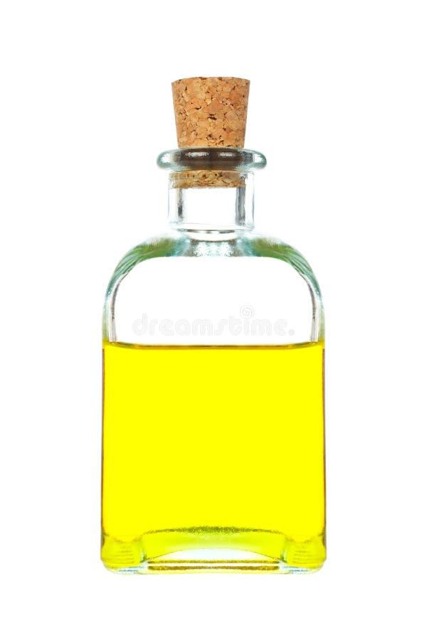 Bouteille d'huile d'olive de Vierge photo stock