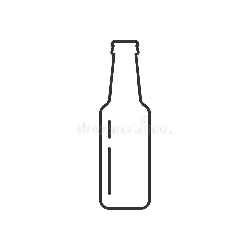 Bouteille d'icône de bière illustration de vecteur