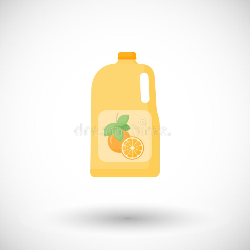 Bouteille d'icône plate de jus d'orange illustration stock