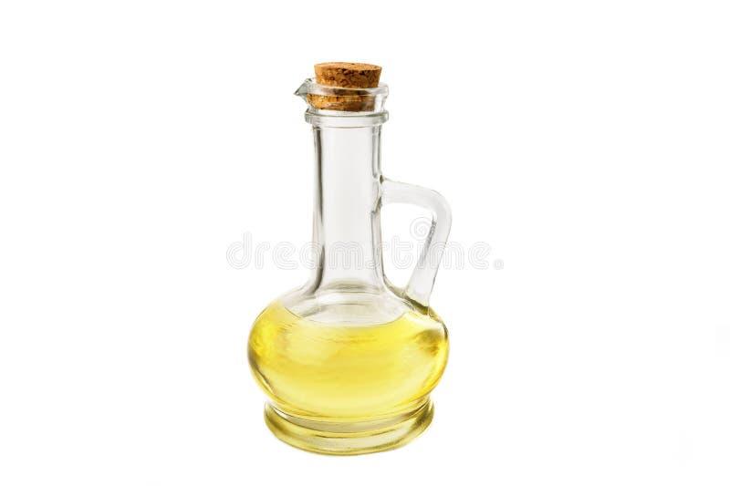 Bouteille d'isolat olive de viol d'huile images stock