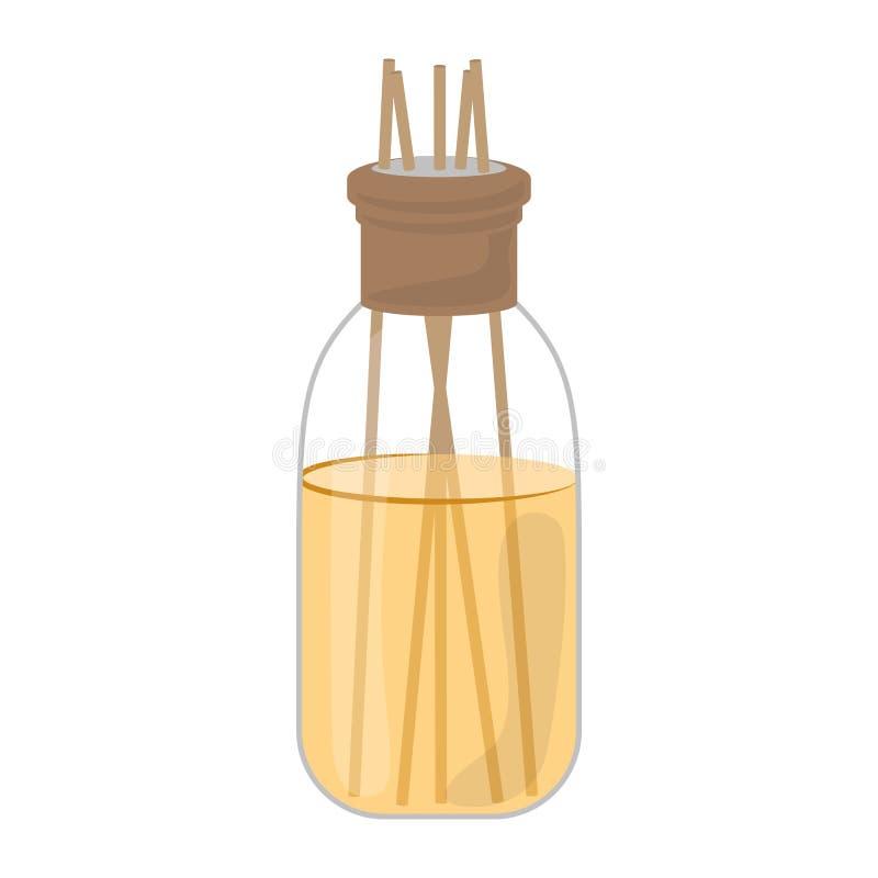 Bouteille d'isolement de parfums d'ambiance illustration libre de droits