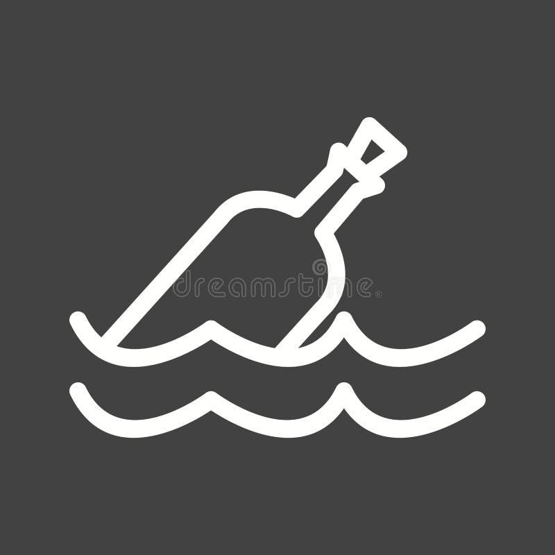 Bouteille dans l'eau illustration libre de droits