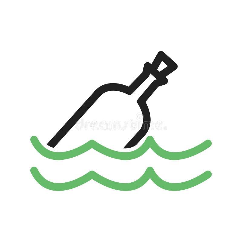 Bouteille dans l'eau illustration stock
