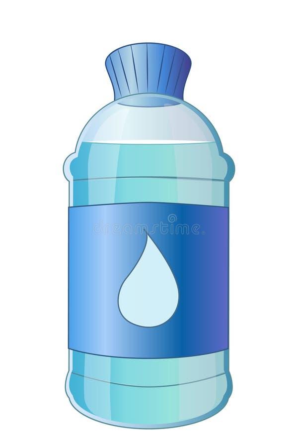 Bouteille de bande dessinée de l'eau illustration de vecteur