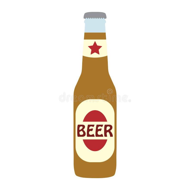 Bouteille de bière illustration libre de droits