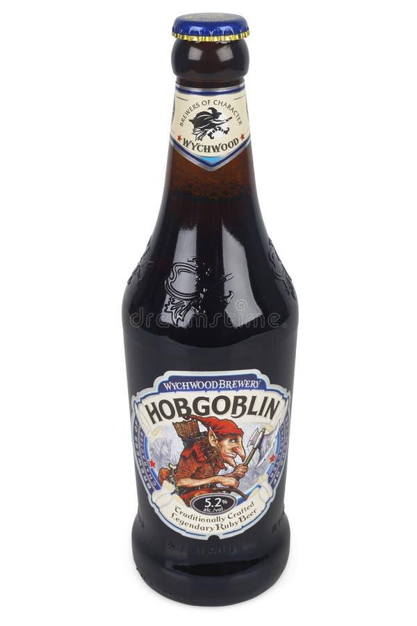Bouteille de bière de diablotin photographie stock libre de droits
