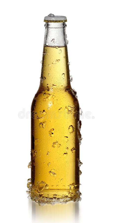 Bouteille de bière froide photos libres de droits