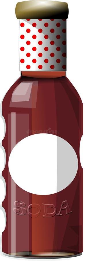 Bouteille de bicarbonate de soude illustration stock