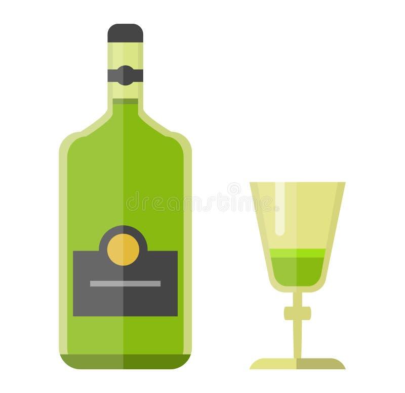 Bouteille de boissons d'alcool illustration de vecteur