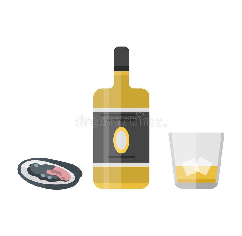 Bouteille de boissons d'alcool illustration stock
