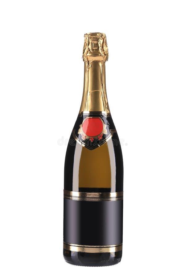 Bouteille de Champagne avec le dessus d'or. photos libres de droits