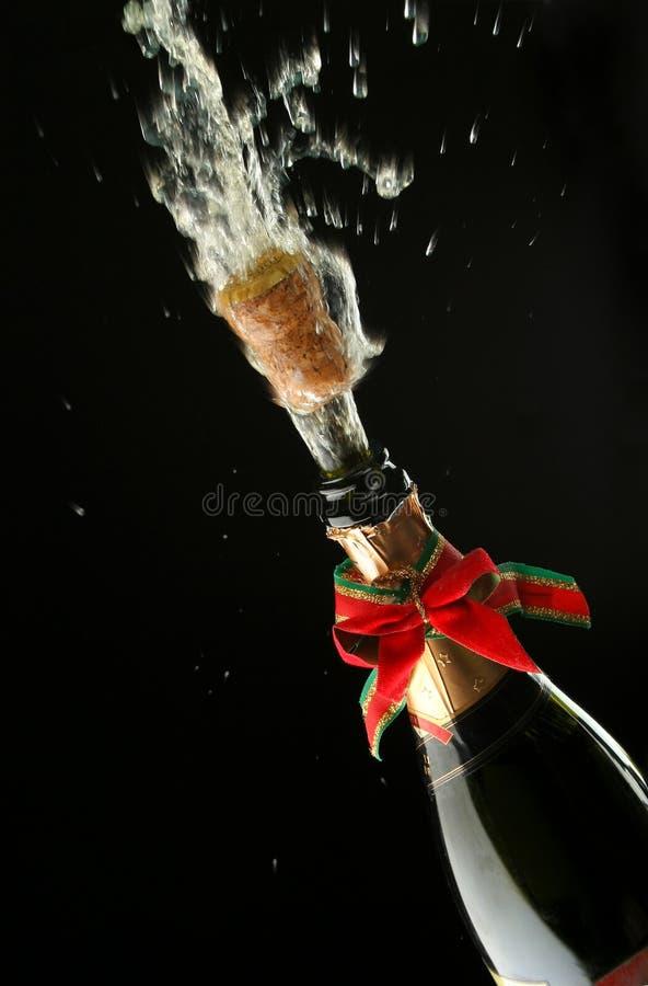 Bouteille de Champagne prête pour la célébration images libres de droits