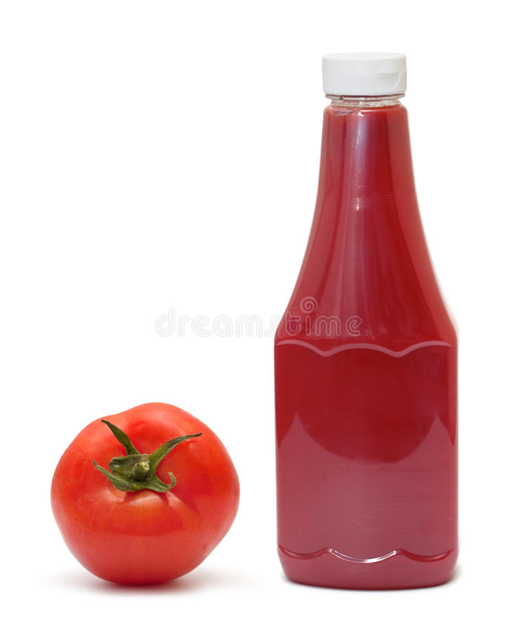 Bouteille de ketchup photo stock