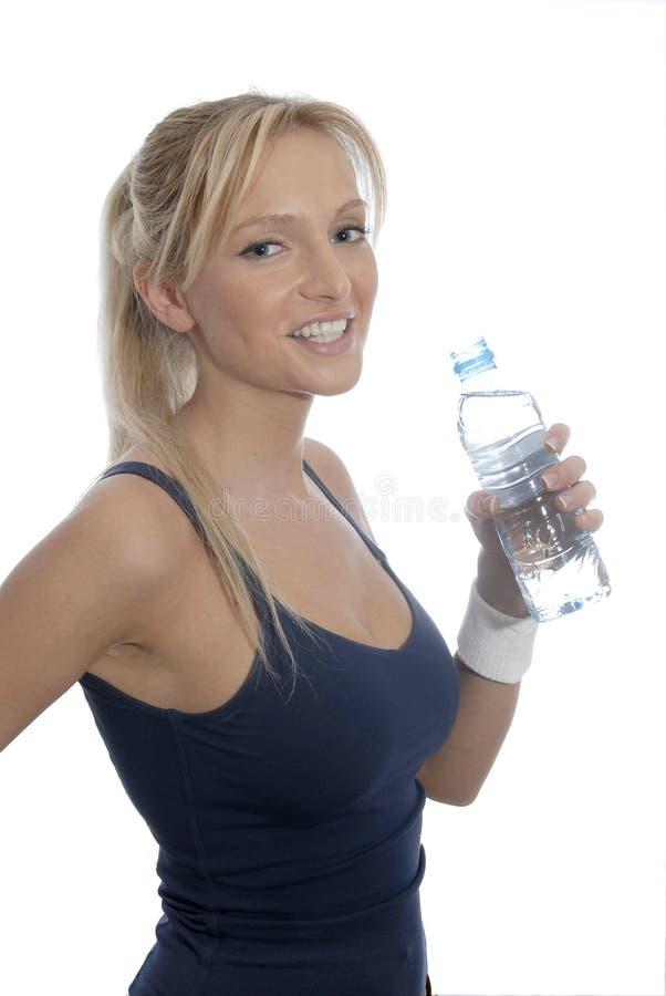 Bouteille de l'eau photo stock