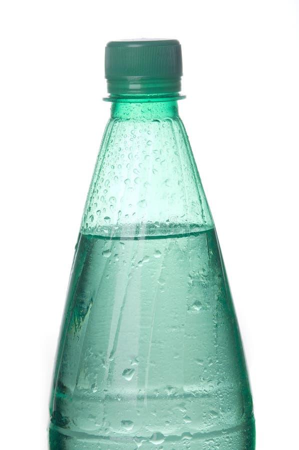 Bouteille de l'eau minérale de bicarbonate de soude image libre de droits
