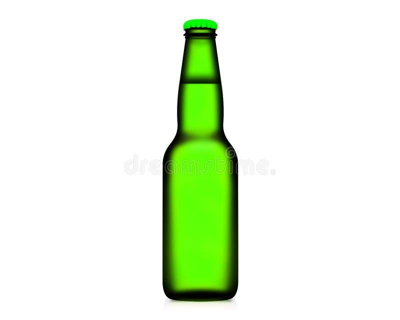 bouteille de l'illustration 3D de bière d'isolement sur le fond blanc images stock