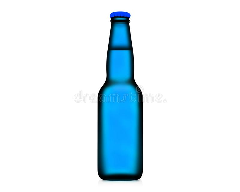 bouteille de l'illustration 3D d'isolement sur le fond blanc image stock