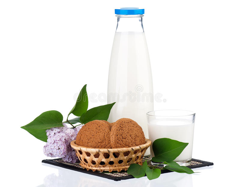 Bouteille de lait photo stock