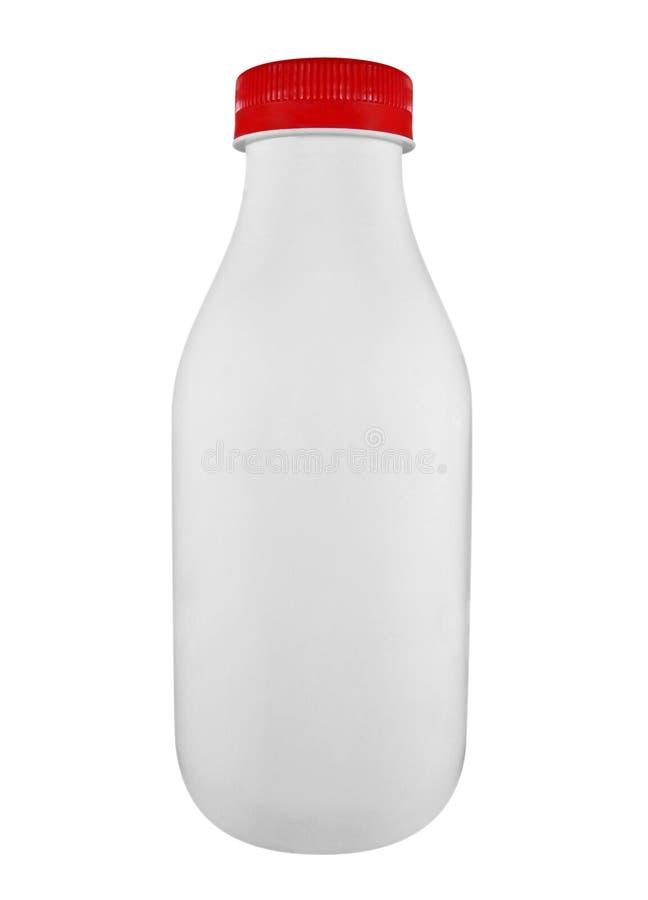 Bouteille de lait d'isolement image libre de droits