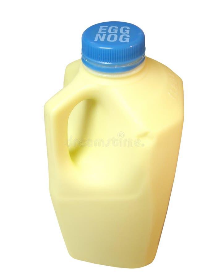 Bouteille de lait de poule photo stock