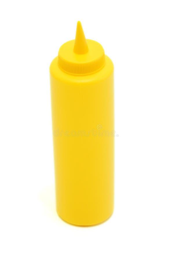 Bouteille de moutarde photographie stock