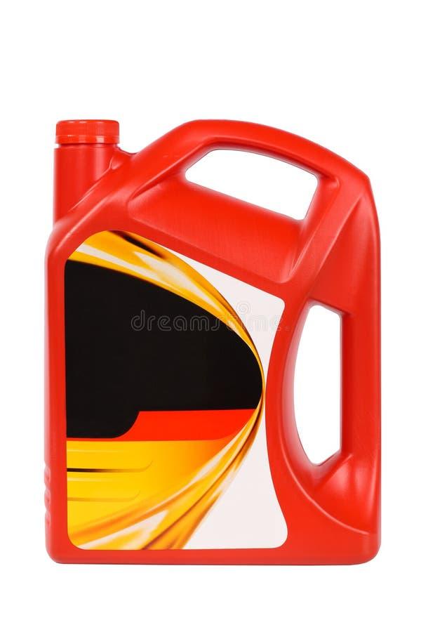 Bouteille de pétrole de moteur image libre de droits