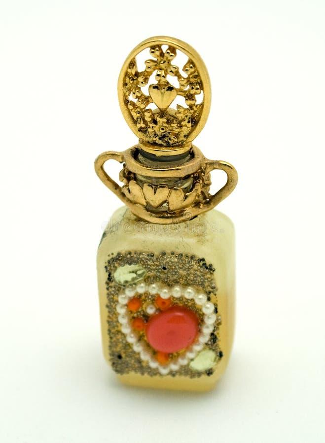 Bouteille de parfum de cru image libre de droits