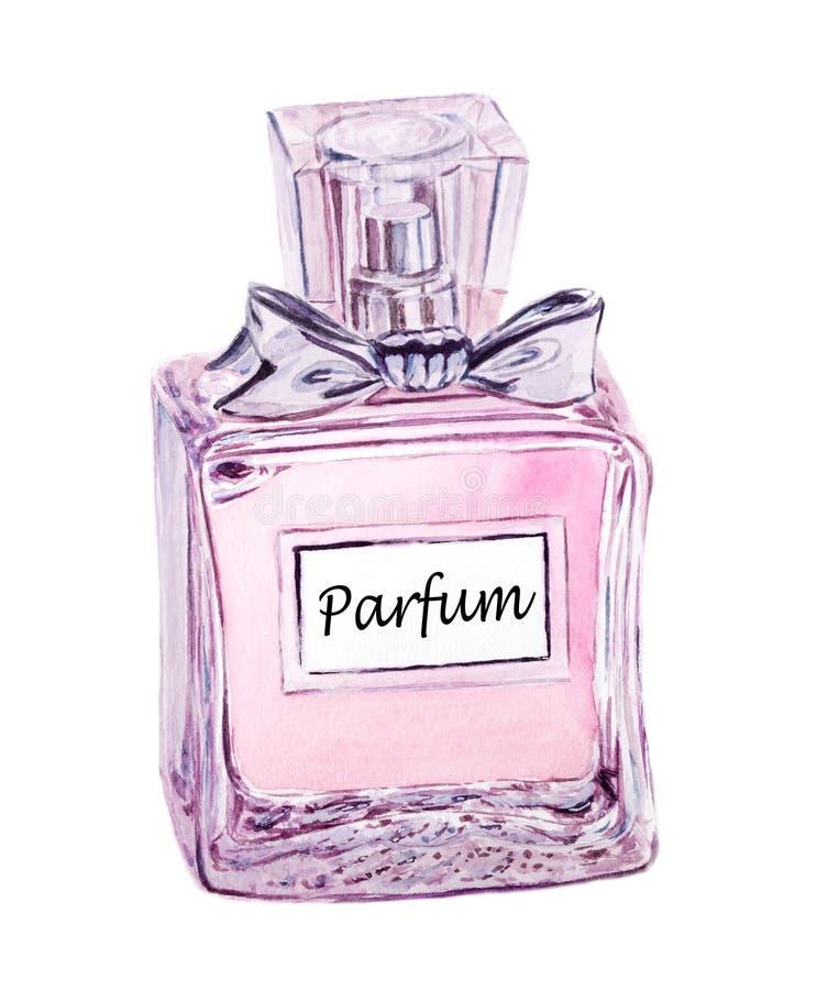 Bouteille de parfum en verre illustration libre de droits