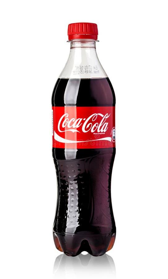 Bouteille de plastique de Coca-Cola photo libre de droits