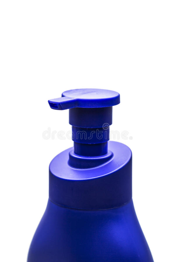 Bouteille de plastique de pompe de distributeur de gel, de mousse ou de savon liquide images stock