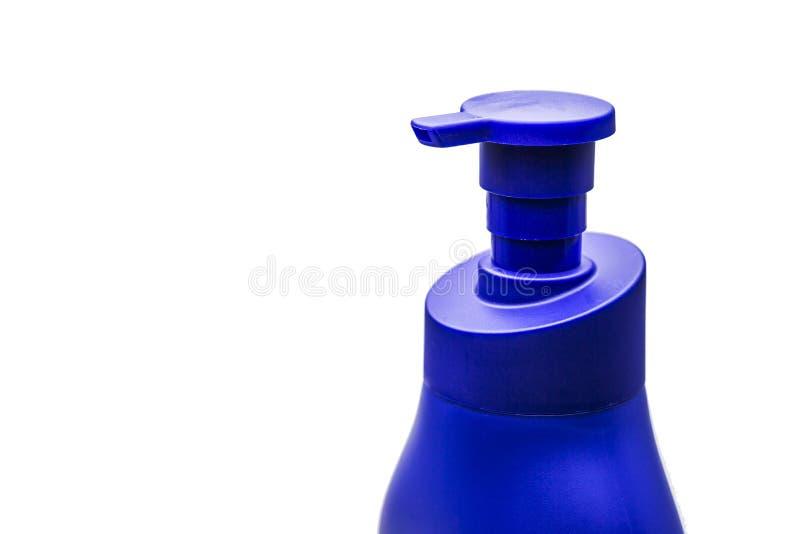 Bouteille de plastique de pompe de distributeur de gel, de mousse ou de savon liquide photo stock